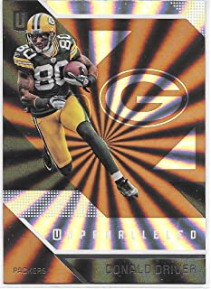 Donald Driver 2016 Panini Unparalleled Green Bay Packers Card #117