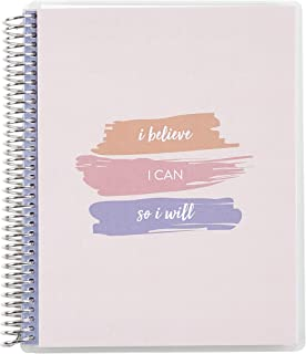 """$26 » Erin Condren 7"""" x 9"""" Spiral Coiled Notebook (College Ruled) - Empowering Quotes Interchangeable Cover with 160 Pages, 80 S..."""