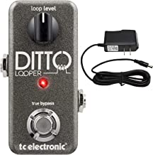 TC Electronics Ditto Looper Effects Pedal with ac power adapter