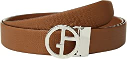 Giorgio Armani - Chevron/Smooth Reversible Belt