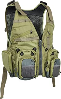 Auscamotek Fly Fishing Vest for Stream Brook Fly-Fishing Jacket S/M and L/XL