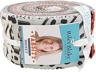 Deena Rutter Varsity Hockey Rolie Polie 40 2.5-inch Strips Jelly Roll Riley Blake Designs RP-7421-40