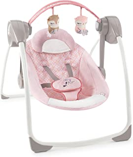 ingenuity soothe n delight portable swing pink