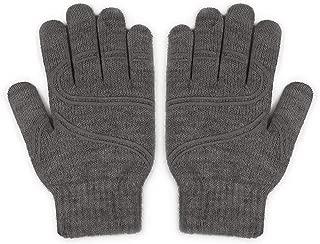 Moshi Digits Winter Gloves Touchscreen,  Slip-Free Grip Warm Knit Gloves 3 Size for Women Men,  Size S: 15-17cm/5.9-6.7/Size M: 17-19cm/6.7-7.5/Size L: 19-20.5cm/7.1-8.1