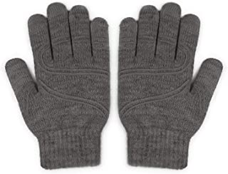 Moshi Digits Winter Gloves Touchscreen,  Slip-Free Grip Warm Knit Gloves 3 Size for Women Men,  Size S: 15-17cm/5.9-6.7/Size M: 17-19cm/6.7-7.5/Size L: 19-20.5cm/7.1-8.1