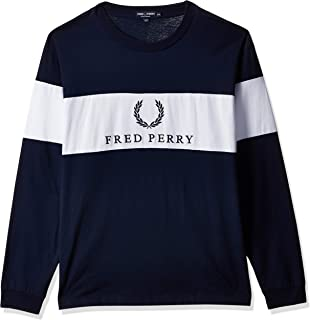 Fred Perry mens Contrast Panel Sweatshirts