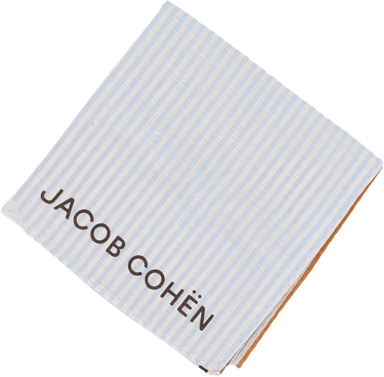 Jacob Cohen Geometric Interlocking Striped Bandana Handkerchief