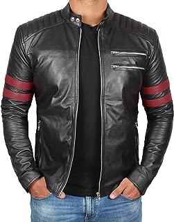 Genuine Black Leather Jackets for Men - Cafe Racer Leather Motorcycle Jacket Men