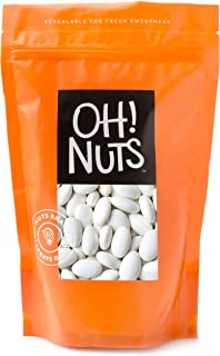 White Jordan Almonds Thin Sugar Coating Large Super Fine Premium 2 Pound Bag - Oh! Nuts