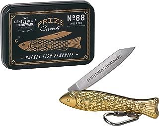 Gentlemen's Hardware Stainless Steel Fishing Pocket Penknife Tool, Brass