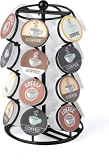NIFTY 5724B Spinning Organizer Compatible 24 Coffee Pods K-Cup Holding Carousel, Capacity, Black
