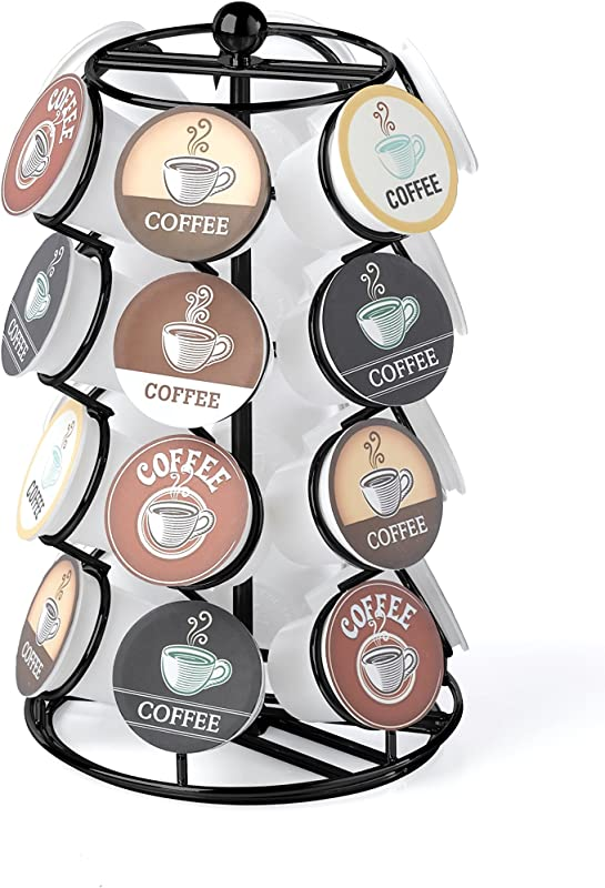 NIFTY 5724B Spinning Organizer Compatible 24 Coffee Pods K Cup Holding Carousel Capacity Black