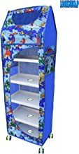 LookNSnap Multipurpose Toy Box Kids Folding Wardrobe - 6 Shelves, Blue