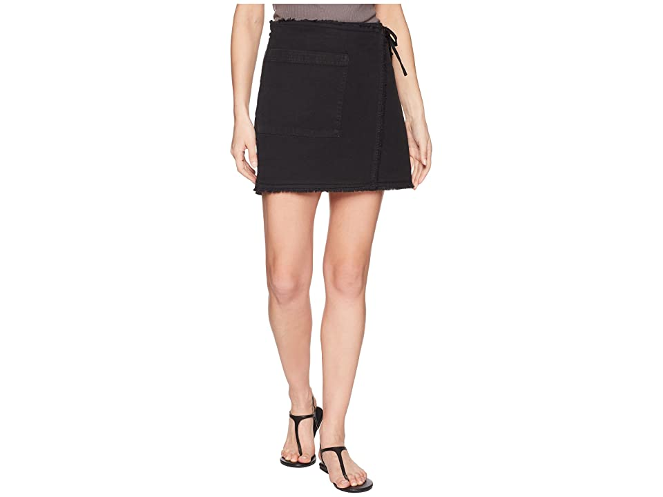 Splendid Faux Wrap Skirt (Antique Coal) Women