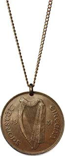 Worn History Authentic Vintage Irish One Pence Coin Necklace (1928-1937) (30 inches)