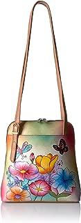 Anna by Handpainted Zip Around Satchel Animal Butterfly