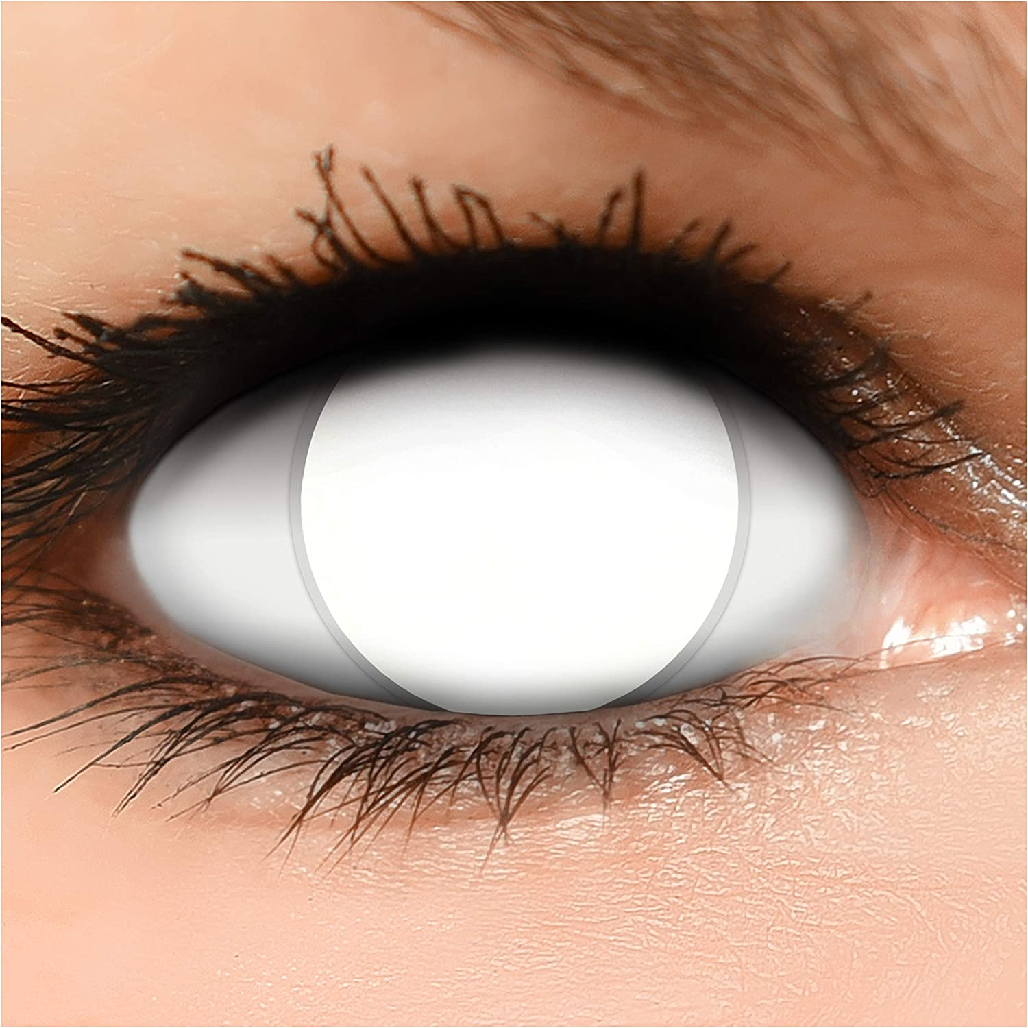 Coloured Contact Lenses Blind White Complete, Strong Visible Block ...