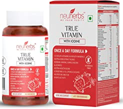 Neuherbs True Vitamins With Minerals, Nutrition supplement for Energy, Immunity booster, Skin & Nails, Brain and Eyes for ...