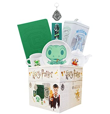 Underground Toys Harry Potter Slytherin House LookSee Box | Contains 7 Official Harry Potter Themed Gifts Including Slytherin Journals, Magnets, & More | Square Gift Box Measures 7.75 Inches