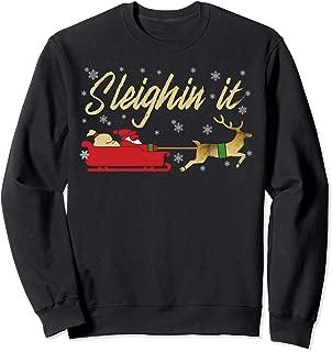 Sleighin It Christmas Sweater Style Sweatshirt