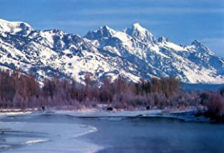 Snake River,Teton Range,Jackson Hole, Wyoming #242-Goodall Christmas Cards