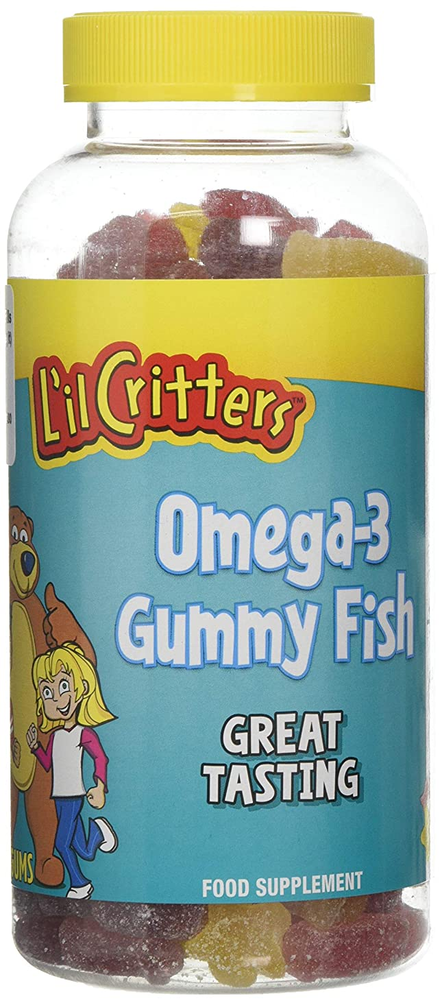 ラベル絶えず経度L'il Critters 子供用 オメガ3 (グミ180錠入り)Omega-3 - 180 Gummy Fish (海外直送品)