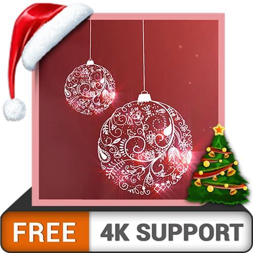 Merry Christmas HD gratis: decora tu habitación con hermosas campanas navideñas con efecto de nieve en invierno en tu televisor HDR 8K 4K y dispositivos de fuego como fondo de pantalla y tema p