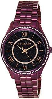 Michael Kors Womens Quartz Watch, Analog Display and Wood Strap MK4152