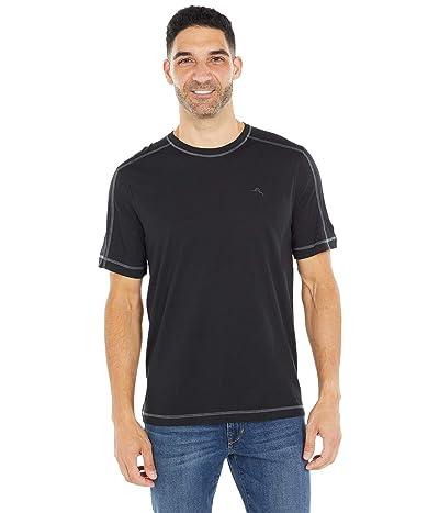 Tommy Bahama Crew Neck Lounge T-Shirt (Black) Men
