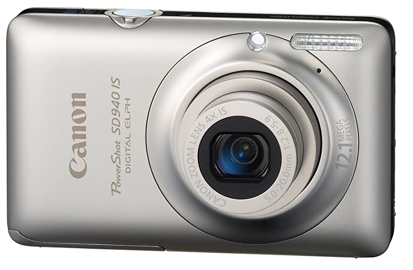 Canon PowerShot SD940IS 12.1MP Digital Camera with 4x Wide Angle Optical Image Stabilized Zoom and 2.7-inch LCD (Silver) (OLD MODEL)