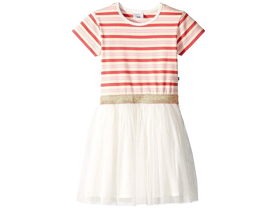 Toobydoo Tulle Party Dress (Toddler/Little Kids/Big Kids) (Glitter Stripe 2) Girl