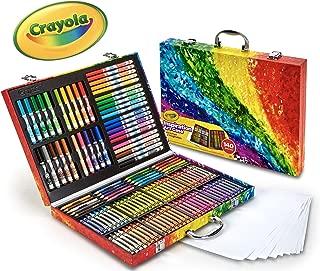 Crayola 繪兒樂 140件藝術套裝 彩虹靈感藝術盒 便攜式藝術和著色用品,兒童禮品,適合于4歲,5歲,6歲孩子
