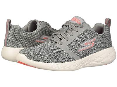 SKECHERS Go Run 600 (Gray/Coral) Women