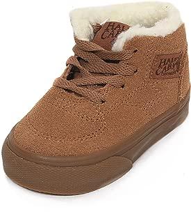 Vans Toddler's Half Cab (Suede/Fleece) Tobacco Brown Skateboarding Shoe VN000OKVF3D