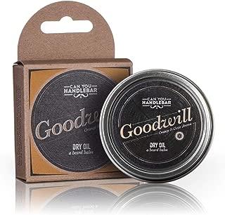 Beard Balm Orange and Clove Scent | Goodwill Premium Beard Balm for Men | Dry Oil Beard Conditioner | 2 Oz Stainless Crushproof Steel Tin