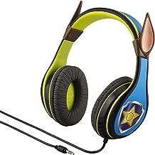 eKids Paw Patrol Chase Kids Headphones for Kids Adjustable Stereo Tangle-Free 3.5Mm Jack Wired Cord Over Ear Headset for Children Parental Volume Control Safe (Frustration Free Packaging)