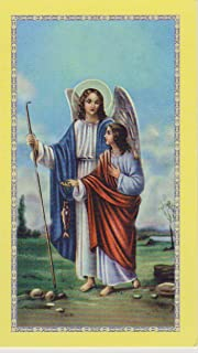 Saint Rafael/Raphael the Archangel Holy Prayer Card with Cross Bookmark