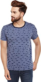 VIMAL JONNEY Black Torn Look Round Neck Tshirt for Men-T_KF-P