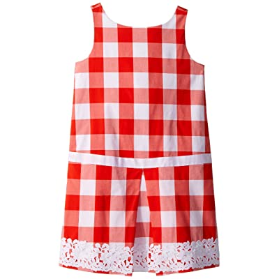Janie and Jack Red Gingham Dress (Toddler/Little Kids/Big Kids) (Red Gingham) Girl