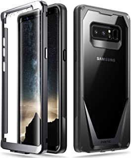 Poetic Galaxy Note 8 Case, Guardian [Scratch Resistant Back] [360 Degree Protection] Full-Body Rugged Clear Hybrid Bumper Case with Built-in-Screen Protector for Samsung Galaxy Note 8 Black