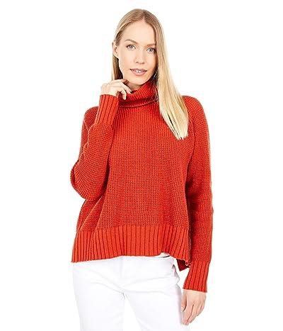 Madewell Eastbrook Turtleneck Cross-Back Sweater in Cotton-Merino Yarn (Etruscan Clay) Women