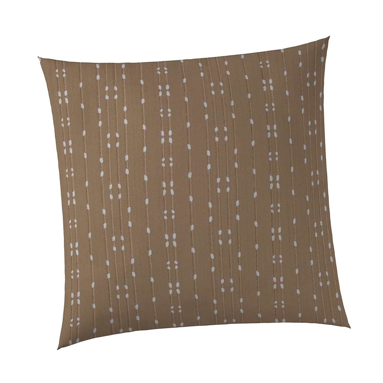 Sweet Potato Frog Song Pillow, Brown/Cream, 14