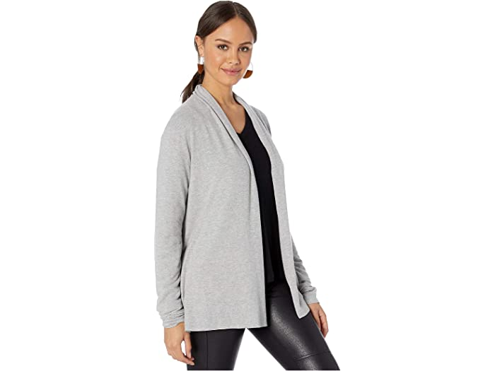 Michael Stars Womens Madison Brushed Jersey Long Sleeve Open Front Cardigan