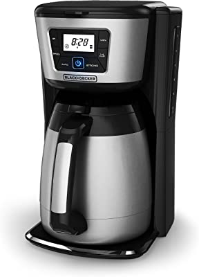 Black & Decker CM2035B 12-Cup Thermal Coffeemaker, Black/Silver