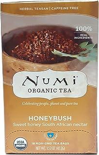Numi Organic Tea Honeybush, Herbal Teasan in Teabags, 18-Count Box (Pack of 6) ( Value Bulk Multi-pack)
