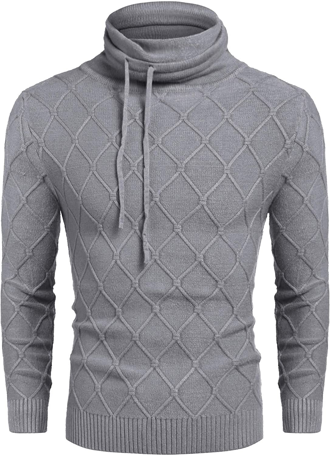 COOFANDY Men's Knitted Turtleneck Sweater Casual Thermal Long Sleeve Pullover