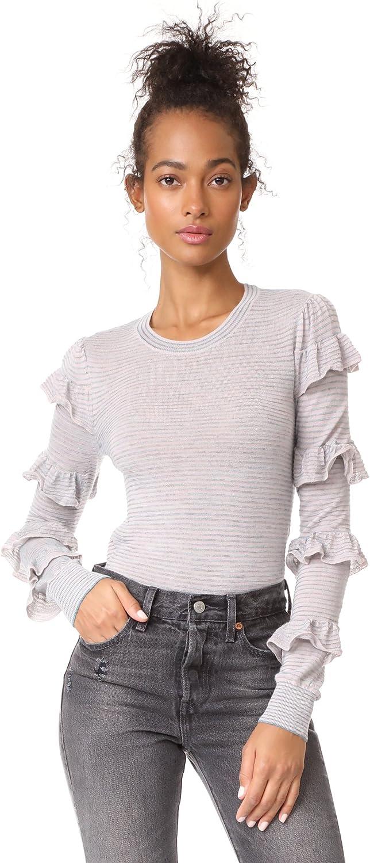 Rebecca Taylor Women's Delicate Ruffle Pullover