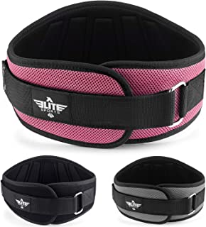 Elite Sports Back Support for Men and Women, Olympic Lifting, and Weight Lifting Belt