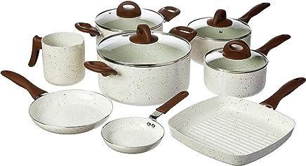 Conjunto De Panelas Brinox Smart Plus Branco com Revestimento em Cerâmica, 8 Peças.