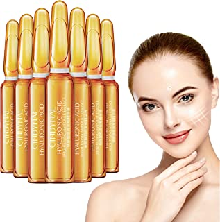 Nicotinamide Dark Spots Corrective Ampul, Hyaluronic Acid Serum Hydrating Anti-Aging Serum for Face, Neck and Eye Treatment | Anti-Wrinkle Facial Serums Fits All Skin Type(7Pcs/Box) (Gold 1)